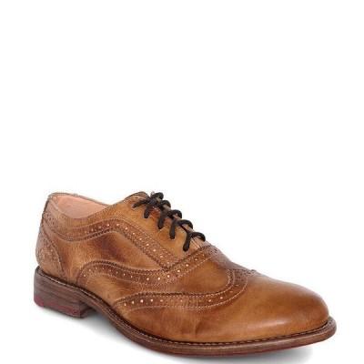 ベッドステュ レディース オックスフォード シューズ Lita Leather Wingtip Block Heel Oxfords Tan Rustic