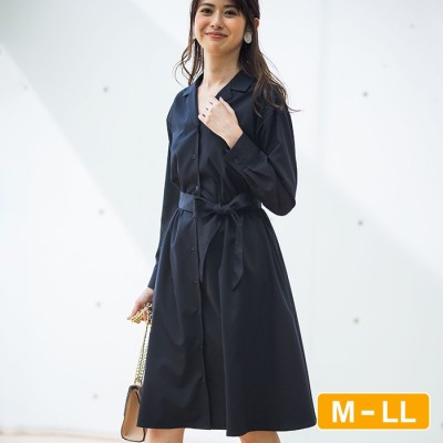 Ranan 【M~LL】開襟シャツワンピース ベージュ LL レディース