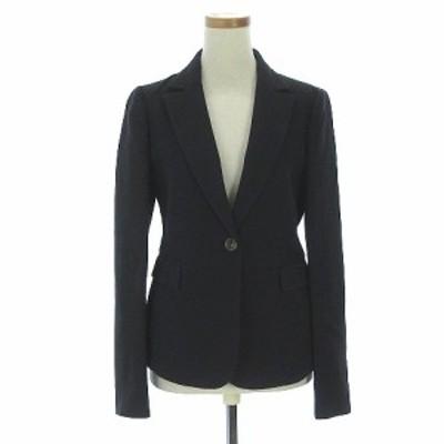 【中古】VALENTINO ヴァレンティノ テーラードジャケット タック 薄手 40 灰 グレー チャコールグレー レディース
