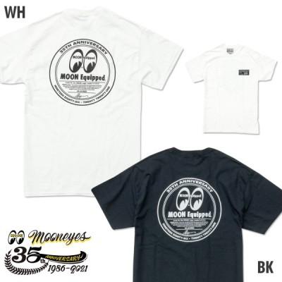 XXLサイズ ムーンアイズ MOONEYES 35th Anniv. ラウンド ロゴ Tシャツ