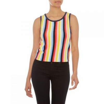 ジューシークチュール Juicy Couture レディース タンクトップ トップス Sleeveless Microterry Striped Tank Multi-Coloured