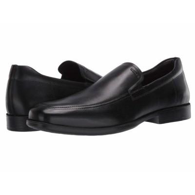 ジェオックス スリッポン・ローファー シューズ メンズ Calgary Smooth Black Leather