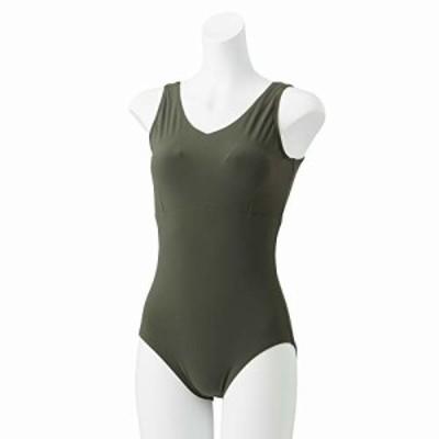Speedo(スピード) 水着 Refined Crossback Suit リファインドクロスバックスーツ 水泳 レディース SFW01920 モスグリーン L