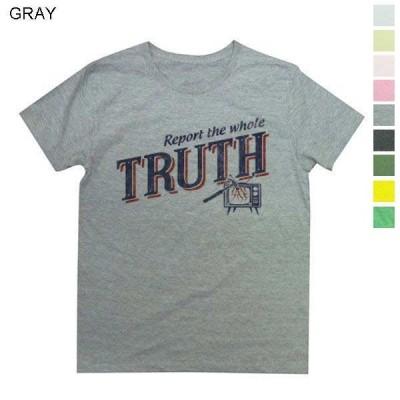 Tシャツ 「真実をありのまま伝えろ」という強烈なメッセージデザイン