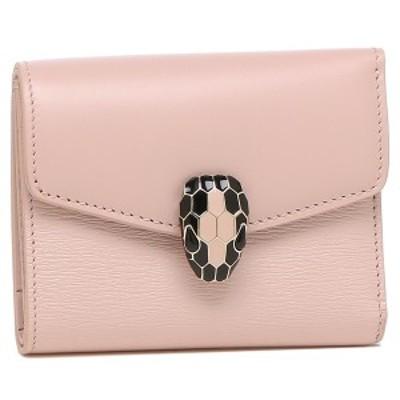 ブルガリ 折財布 レディース セルペンティ 蛇 ミニ財布 BVLGARI 289965 ピンク【返品OK】