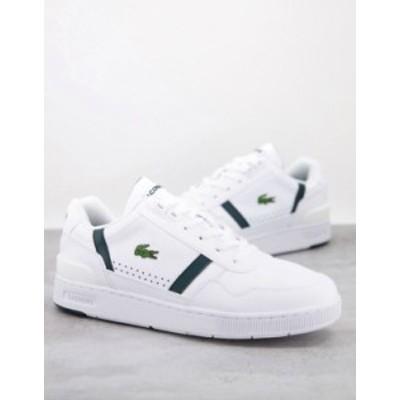 ラコステ メンズ スニーカー シューズ Lacoste T-clip sneakers in white / green White