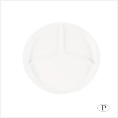 パール金属 あつかいやすい 仕切付ラウンドプレート ホワイト K-6387 (APIs)