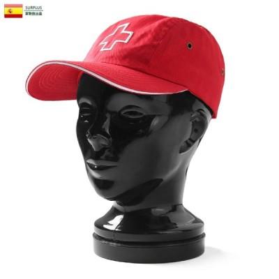 実物 新品 スペイン軍 赤十字 レッドクロス キャンプキャップ #1 メンズ レディース 帽子 ミリタリーキャップ デッドストック 放出品【Sx】