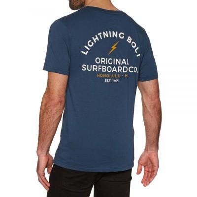 ライトニングボルト Lightning Bolt メンズ Tシャツ トップス honolulu vintage wash short sleeve t-shirt Insignia Blue