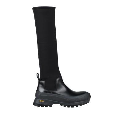 ジル サンダー JIL SANDER ブーツ ブラック 38 革 / 紡績繊維 ブーツ