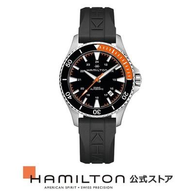 ハミルトン 公式 腕時計 HAMILTON  カーキ ネイビー スキューバ 自動巻き 40.00MM ラバーベルト H82305331 男性 正規品