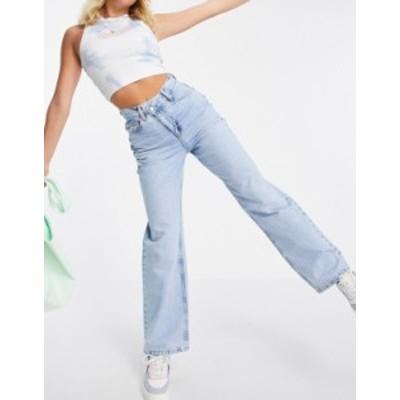 エイソス レディース デニムパンツ ボトムス ASOS DESIGN organic 'relaxed' dad jeans with stepped waistband in midwash Midwash