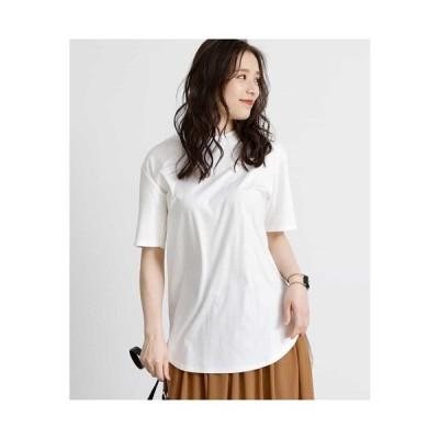 MK MICHEL KLEIN / 【洗える】ラウンドヘムTシャツカットソー