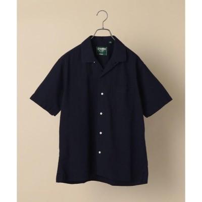 【シップス メン】GITMAN VINTAGE: シアサッカー オープンカラー キャンプシャツ