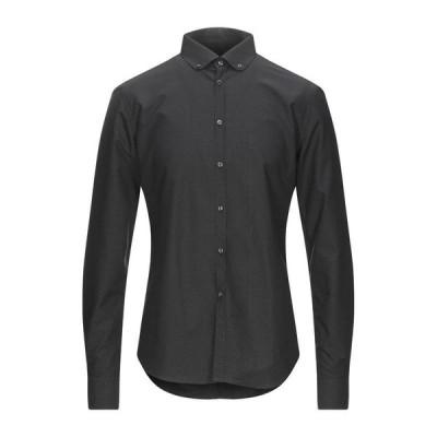 TREND CORNELIANI 柄入りシャツ ファッション  メンズファッション  トップス  シャツ、カジュアルシャツ  長袖 ブラック