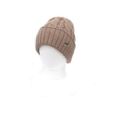 【中古】クロコダイル CROCODILE 帽子 ニット帽 ビーニー ワッチキャップ フリーサイズ ベージュ /ST メンズ 【ベクトル 古着】