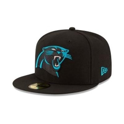 ニューエラ メンズ 帽子 アクセサリー Carolina Panthers Team Basic 59FIFTY Fitted Cap Black/Black