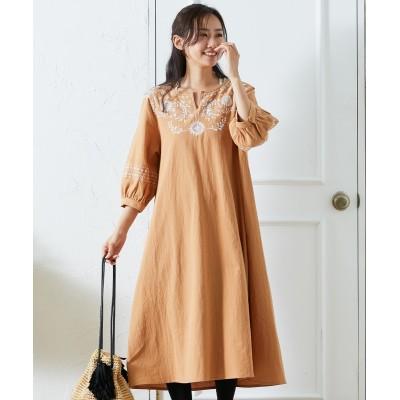 胸刺繍 ワンピース (ワンピース)Dress