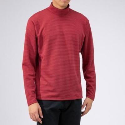 ブレスサーモミニボーダーハイネックシャツ メンズ MIZUNO ミズノ アウトドア トラベル シャツ (B2MA9540)