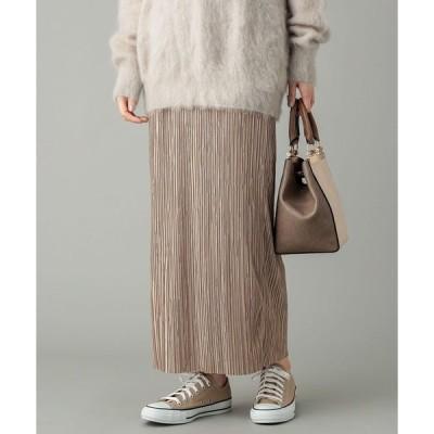 スカート リラクシーな履き心地が魅力 リラックスプリーツスカート (無地)