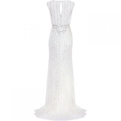 フェーズ エイト Phase Eight レディース パーティードレス ワンピース・ドレス Milly Beaded Bridal Dress Snow