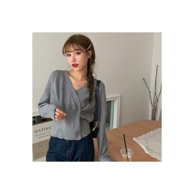 【送料無料】秋 韓国風 レトロ シンプル ショートセーター デザイン 感 不 | 364331_A63644-0615041