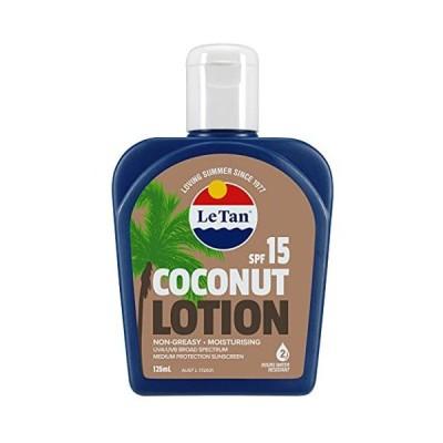 Le Tan(ル タン) 【日本・正規輸入品】サンスクリーンローション ココナッツ SPF15 日焼け止め 125ミリリットル (x 1)