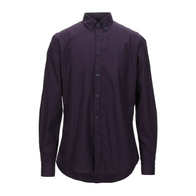 HARMONT&BLAINE シャツ ダークパープル M コットン 100% シャツ
