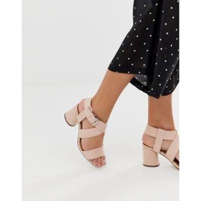 キューピッド レディース サンダル シューズ Qupid mid block heeled sandals
