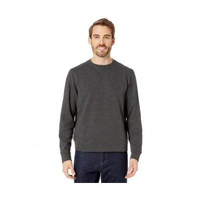 Perry Ellis ペリーエリス メンズ 男性用 ファッション パーカー スウェット Ottoman Rib Knit Long Sleeve Shirt - Charcoal Heather