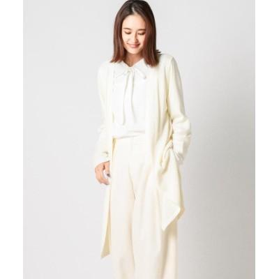 【ミューズ リファインド クローズ】 ウォームカットトッパーカーディガン レディース シロ M MEW'S REFINED CLOTHES