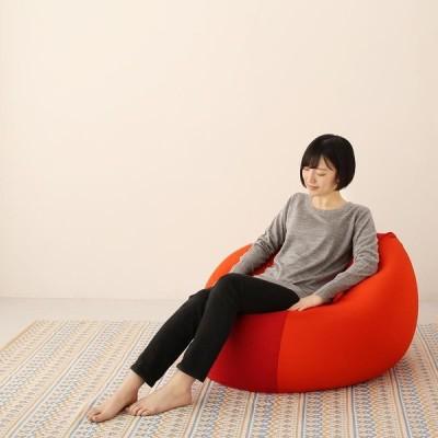 ビーズクッション 日本製 もちもち 大型 フロア ビッグクッション マイクロビーズ 幅85cm