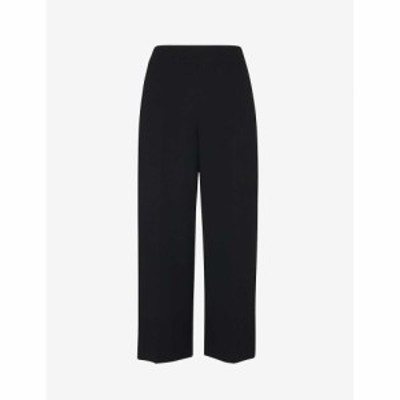 ホイッスルズ WHISTLES レディース クロップド ボトムス・パンツ High-rise cropped crepe trousers BLACK