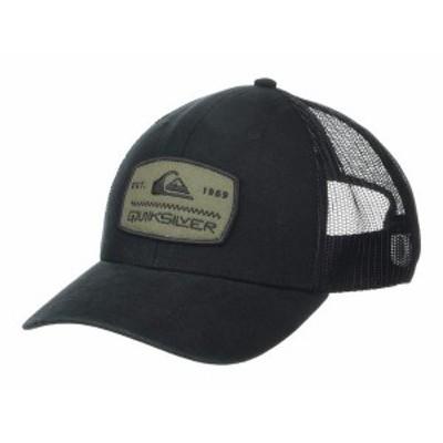 クイックシルバー メンズ 帽子 アクセサリー Rinsed Off Trucker Black