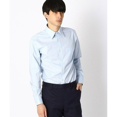 シャツ ブラウス 《イージーケア・抗菌防臭加工》 市松柄 レギュラーカラーシャツ