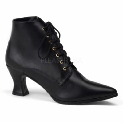 取寄 靴 送料無料 PLEASER プリーザー ブーツ 7cmヒール 大きいサイズあり イベント セクシー サンタ 女装 パーティ- クリスマス コスプ