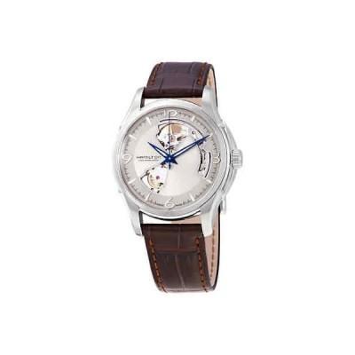 腕時計 ハミルトン メンズ Hamilton Jazzmaster Open Heart Silver Dial Men's Leather Watch H32565521