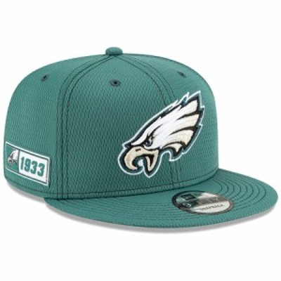 "ニューエラ メンズ キャップ ""Philadelphia Eagles"" New Era 2019 NFL Sideline Road Official 9FIFTY Snapback Hat 帽子 Green"