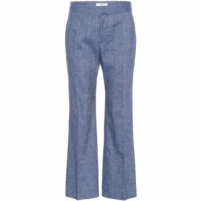 イザベル マラン Isabel Marant. Etoile レディース ボトムス・パンツ Oxy linen-blend flared pants Blue