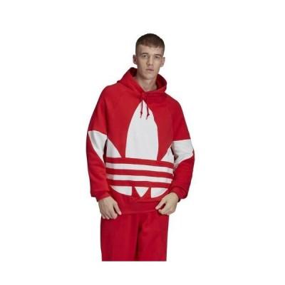 (取寄)アディダス メンズ オリジナルス ビッグ トレフォイル プルオーバー フーディMen's adidas Originals Big Trefoil Pullover Hoodie Lush Red