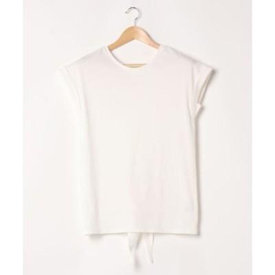 tシャツ Tシャツ リボンウエスト2WAYカットトップス