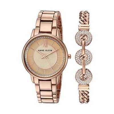 腕時計 アンクライン レディース AK/3520RGST Anne Klein Women's Premium Crystal Accented Rose Gold