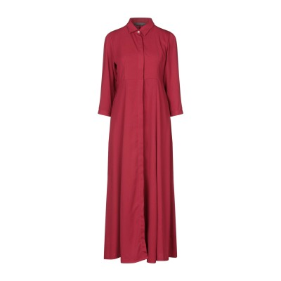 SANDRO FERRONE ロングワンピース&ドレス レンガ S ポリエステル 100% ロングワンピース&ドレス