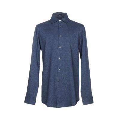 ドルモア DRUMOHR シャツ ブルー S コットン 100% シャツ