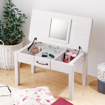 ドレッサー テーブル コンパクト ロータイプ ホワイト 白 送料無料