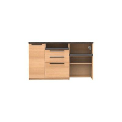 キッチンカウンター 幅160 食器棚 レンジ台 日本製 パモウナ カウンター オーチェ SY-S 1600 R 下台 O