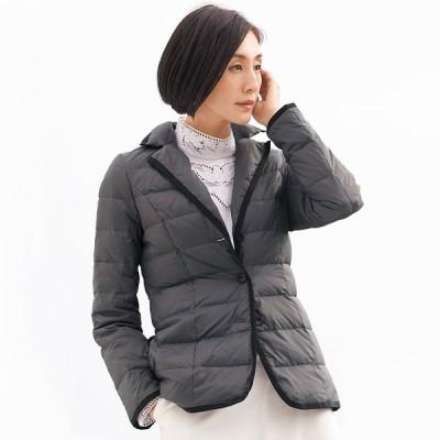 ファッション ジャケット テーラードジャケット 撥水加工 ライトダウン テーラードカラー ジャケット 220501