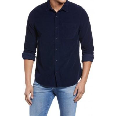 エージー AG メンズ シャツ トップス Colton Corduroy Button-Up Shirt True Navy