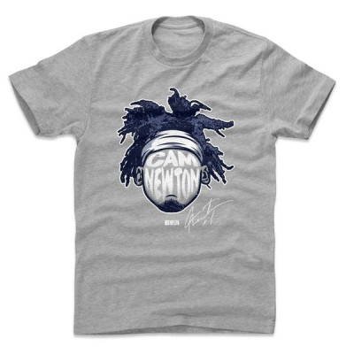 NFL ペイトリオッツ Tシャツ キャム・ニュートン Player Silhouette T-Shirt 500Level ヘザーグレー
