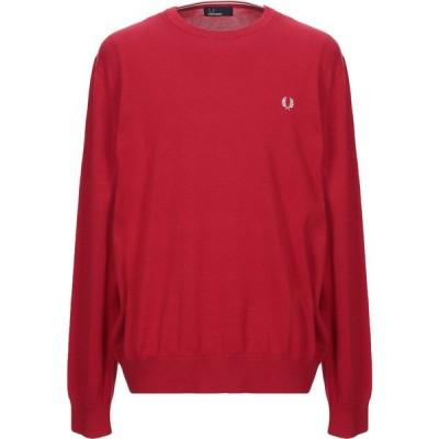 フレッドペリー FRED PERRY メンズ ニット・セーター トップス sweater Red
